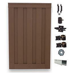 Barrière simple de clôture vie privée composite couleur Saddle avec le matériel  6' x 4'