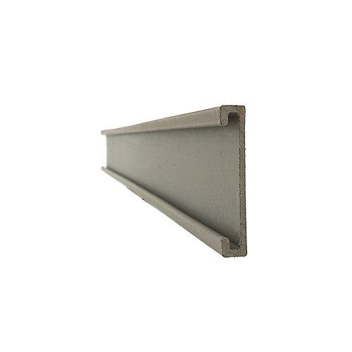 25.4 mm x 149 mm x 2.31 m Piquet / Couverture de rail inférieur en composite de bois - Couleur Winchester Grey