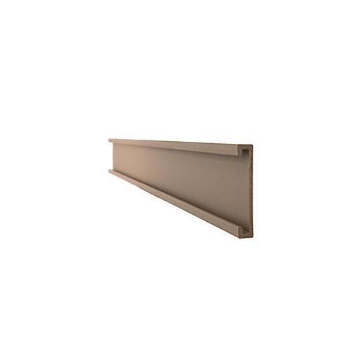 25.4 mm x 149 mm x 2.31 m Piquet / Couverture de rail inférieur en composite de bois - Couleur Saddle