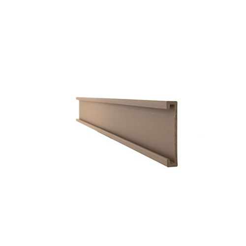 Seclusions 1 inch x 5-7/8 inch x 91 inch Wood Composite Saddle Bottom Rail Cover and Picket