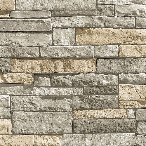 Ledgestone Terracotta Wallpaper