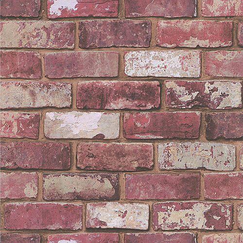 Brique Papier Peint Rouge