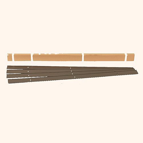 24 ft. Aluminum Landscape Edging Project Kit in Bronze