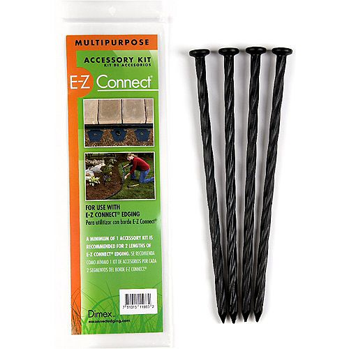 E-Z Connect 10-inch Multipurpose Accessory Spiral Spike (4-Pack)