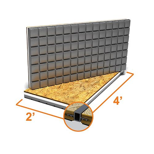 Amdry 2 ft. x 4 ft. Insulated OSB Subfloor Panel