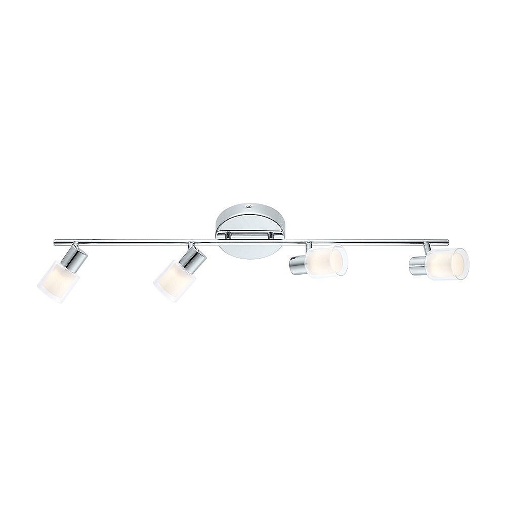 Eglo Salti LED Track 4L, Chrome Finish with Frosted & Clear Glass