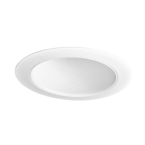 6-inch White Recessed Lighting with Sloped Ceiling Trim with Baffle