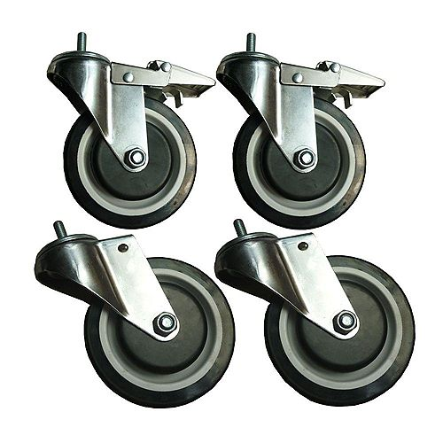 5-inch Heavy Duty Casters For Wire Shelving