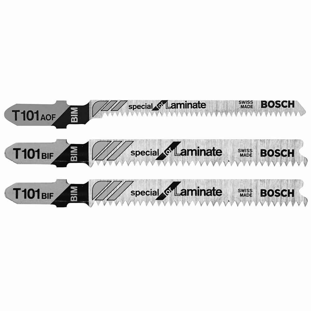 Bosch 3 Piece T-Shank Jig Saw Blade Set