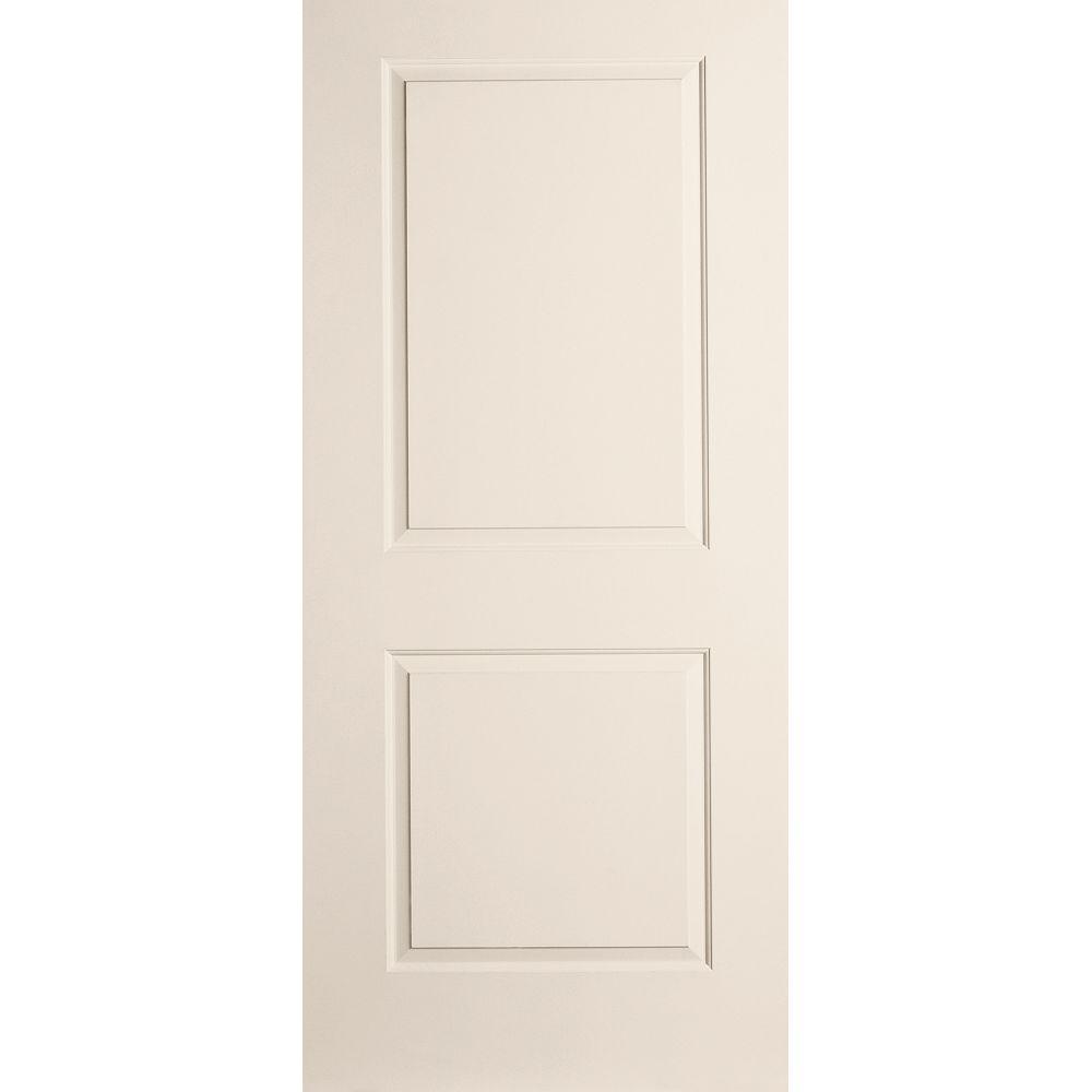 JELD-WEN Windows & Doors 30-inch W 2-Panel Cambridge Style Moulded Panel Prehung Interior Door Hinged on Left