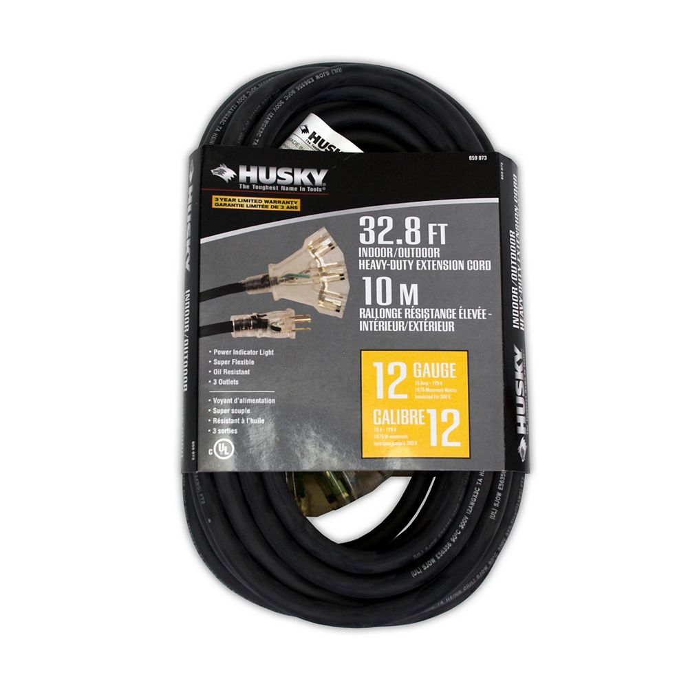 Husky Indoor / Outdoor Heavy-Duty Extension Cord