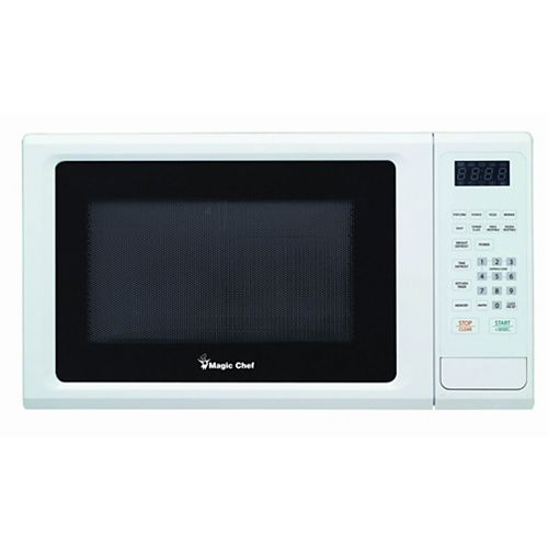 Magic Chef 1.1 cu. ft. Countertop Microwave with 10 Power Levels in White