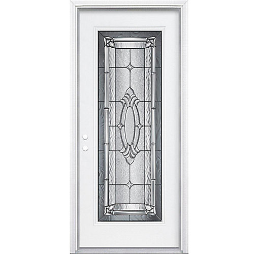 36-inch x 80-inch x 6 9/16-inch Antique Black Full Lite Right Hand Entry Door with Brickmould - ENERGY STAR®