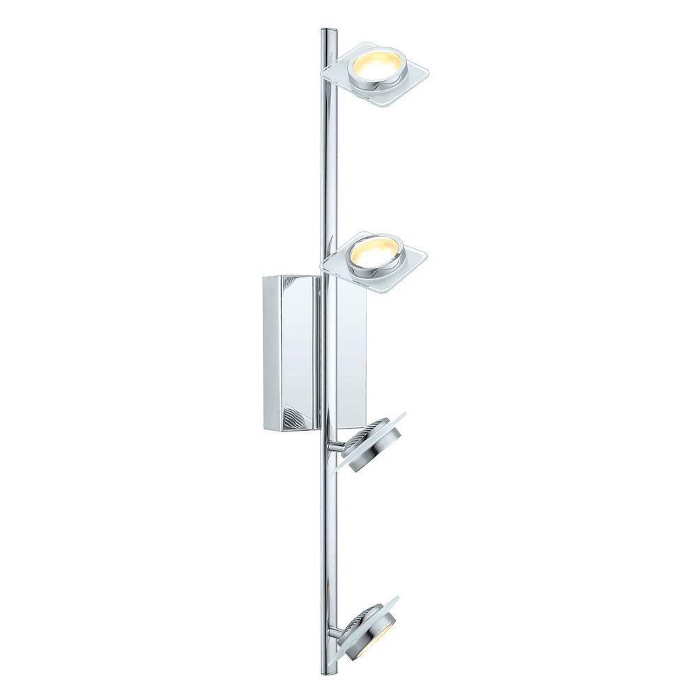 Eglo Tinnari Rail LED 4L, fini chrome avec verre satin