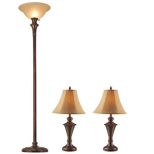 Hampton Bay Floor And Table Lamps Set