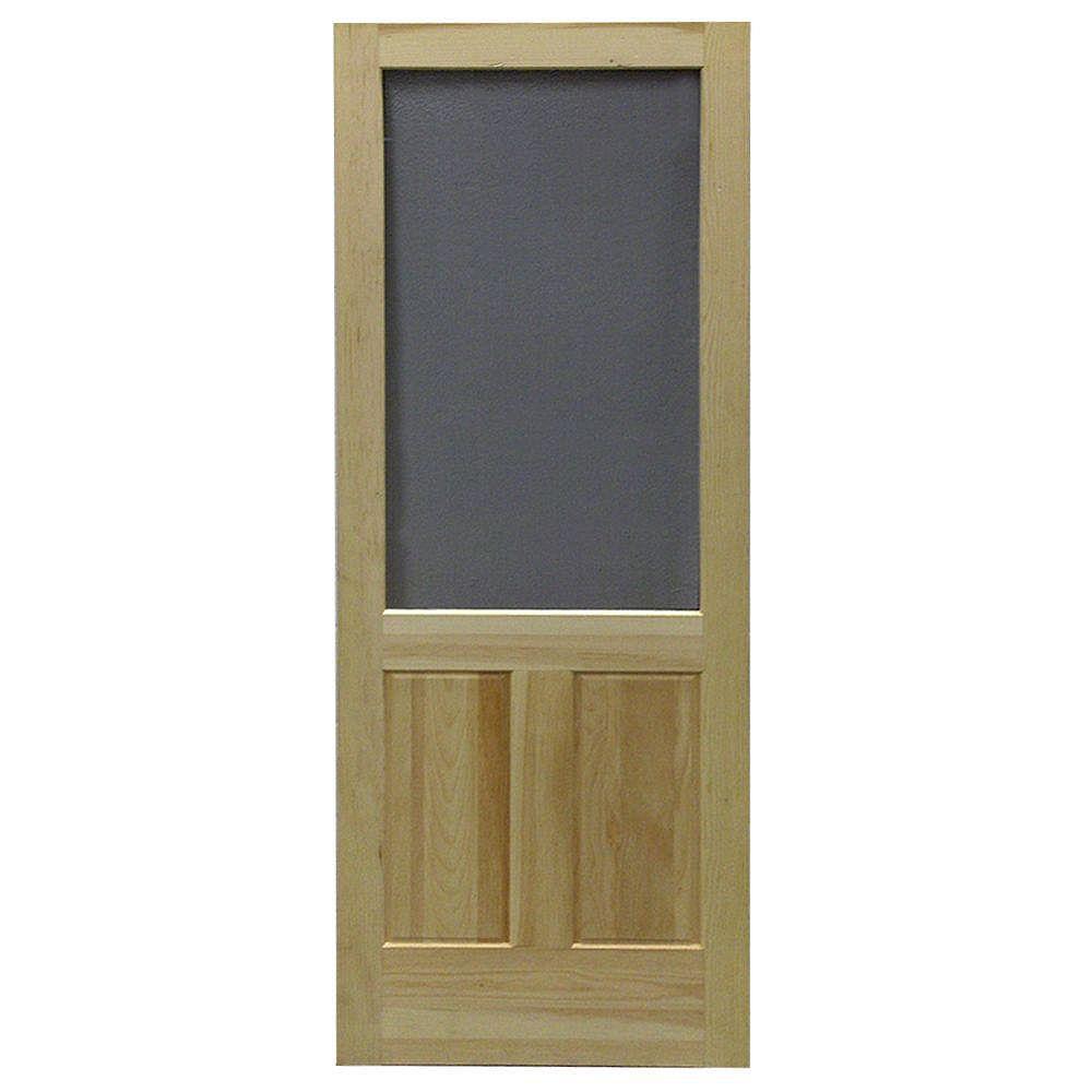 DIY 32-inch x 80-inch Laurentian Wood Screen Door