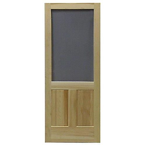 36-inch x 80-inch Laurentian Wood Screen Door