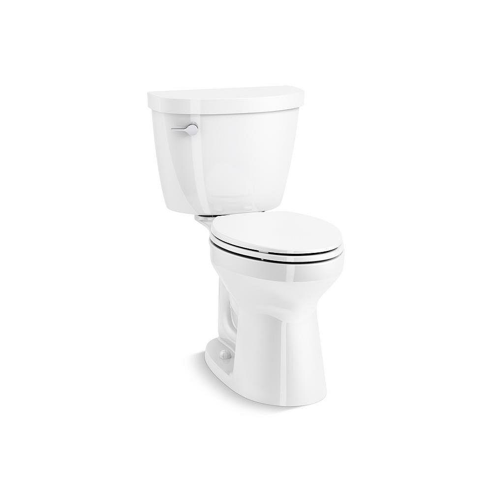 KOHLER Cimarron Comfort Height the Complete Solution 2-Piece 4.8 LPF Single Flush Elongated Toilet in White