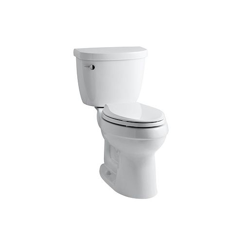 KOHLER Cimarron Comfort Height the Complete Solution 2-Piece 4.8 LPF Single Flush Elongated Toilet in White