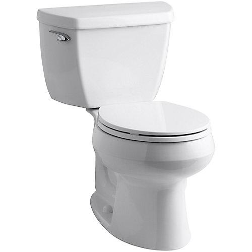 Wellworth - Pièces de toilette 2 cuves rondes à chasse simple, blanc
