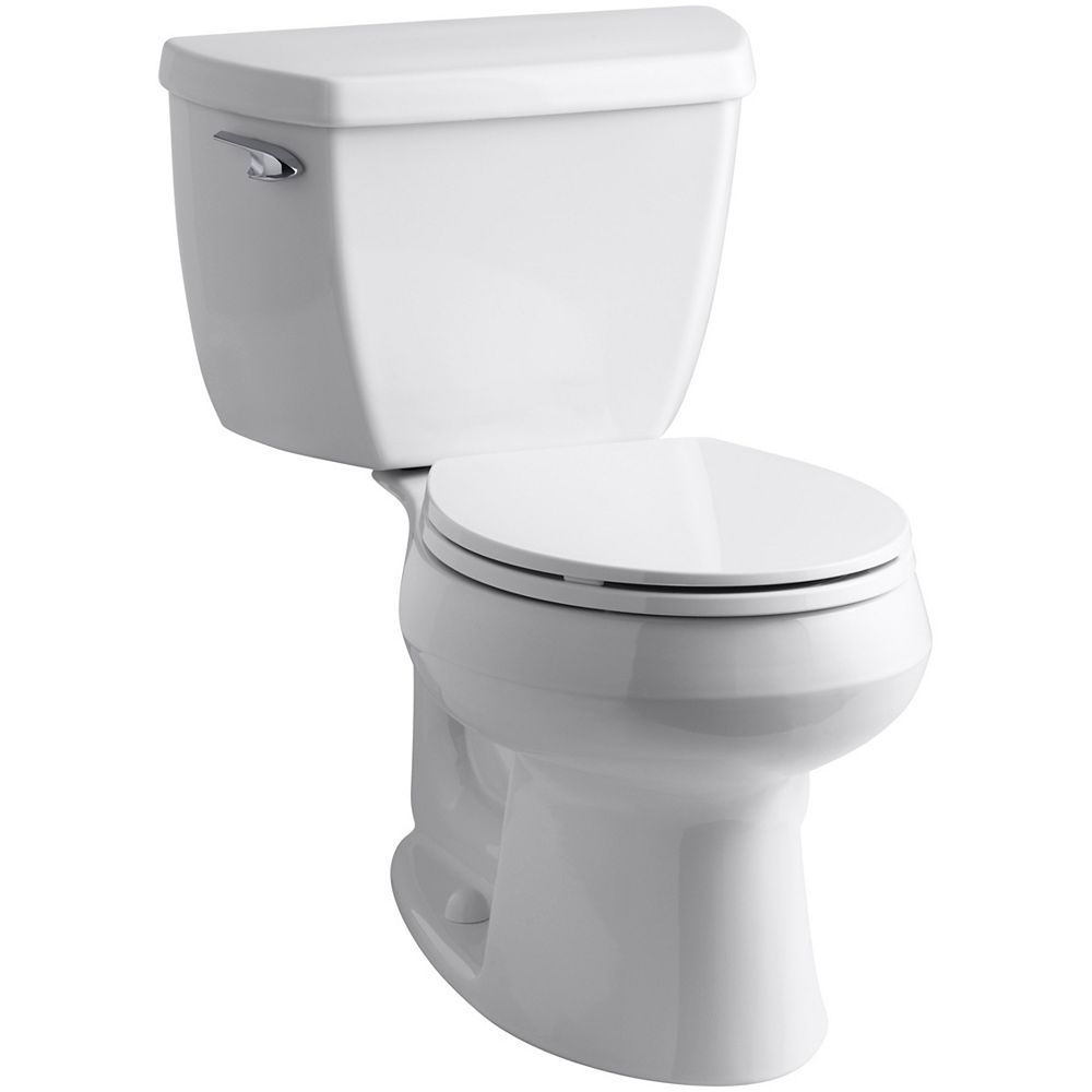 KOHLER Wellworth Classic Complete Solution 2-Piece 1.28 GPF Single Flush Round Toilet in White