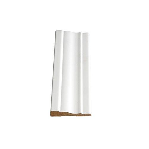 Alexandria Moulding 3/8-inch x 2 1/4-inch x 96-inch MDF Painted Decosmart Fibreboard Casing