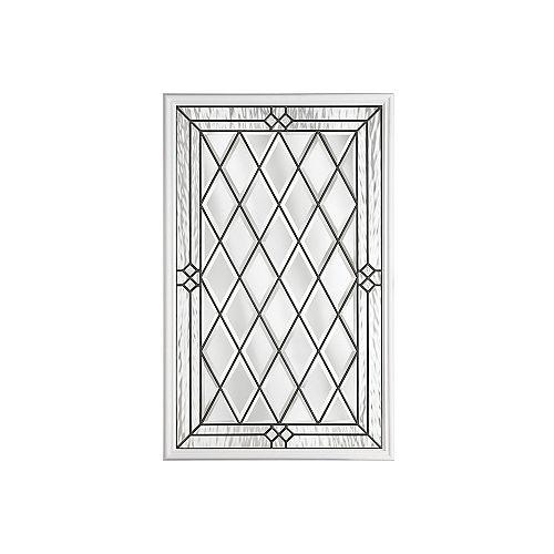 22-inch x 36-inch Halifax Antique Black 1/2-Lite Decorative Glass Insert