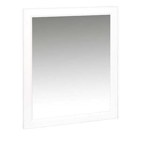 Miroir pour salle de bain Hampton blanc 29 po