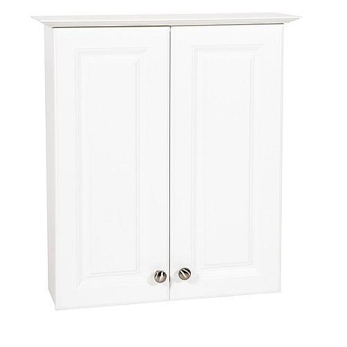 24 in White Hampton Bath Storage Cabinet