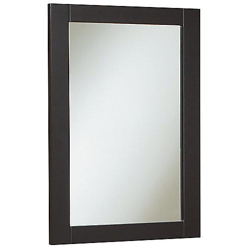 Miroir Peython de 45,7 cm (18 po) larg. - chocolat noir