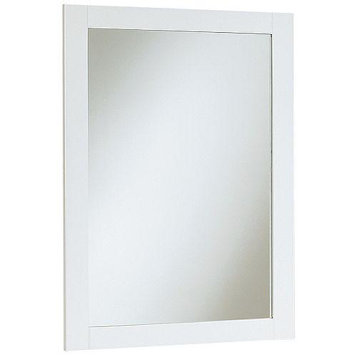 18 inch W Peython Mirror - White