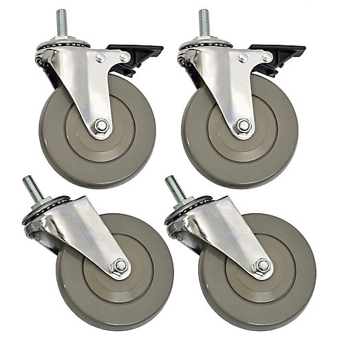 4-inch Heavy Duty Casters For Wire Shelving