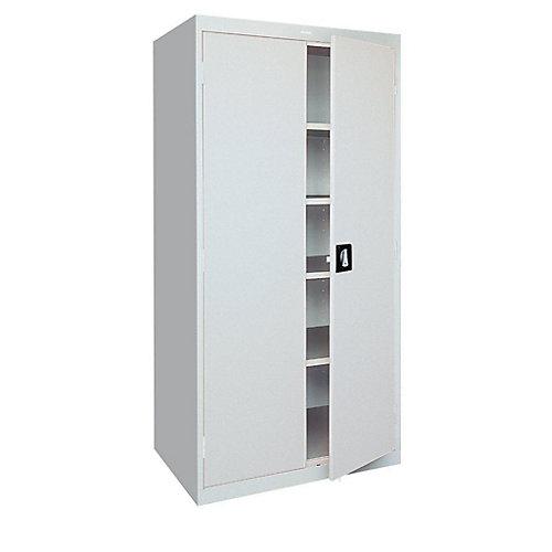 36 Inch W x 72 Inch H x 18 Inch D Freestanding Steel Cabinet In Dove Gray