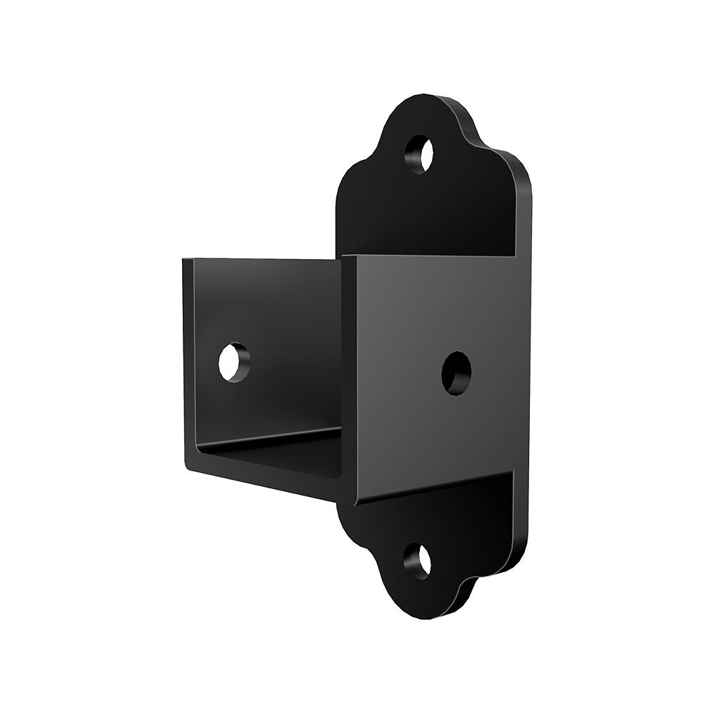 Peak Products Aluminum Fence Bracket Kit - Black