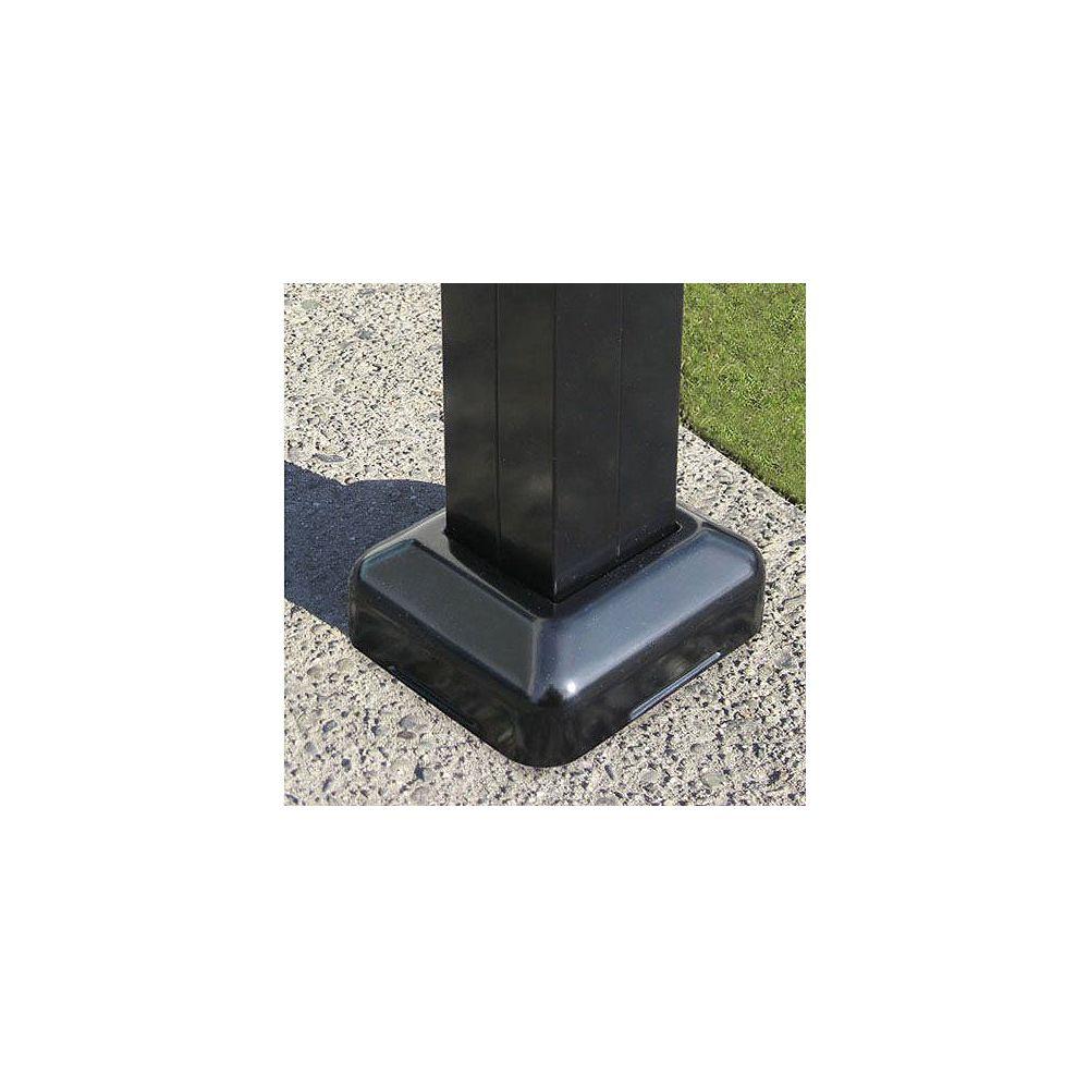 Peak Products Aluminum Fence Post Surface Kit - Black