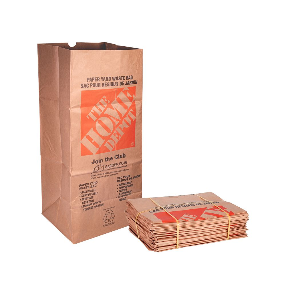 The Home Depot Kraft Paper 2-Ply Lawn, Leaf and Yard Waste Bags (25-Pack)