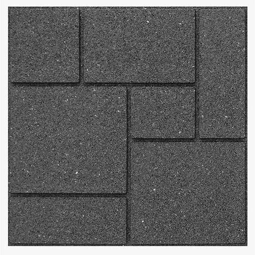 Envirotile Landscaping Supplies Cobblestone 18 in. x 18 in. Grey Paver