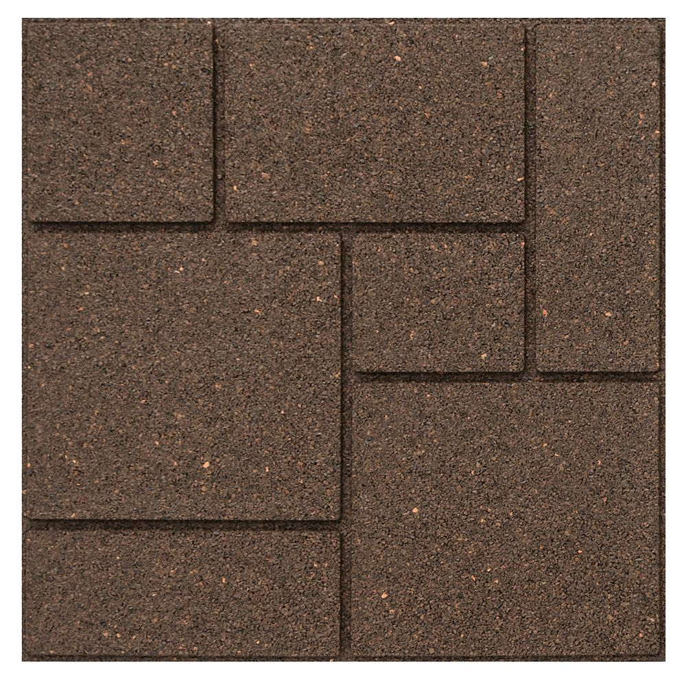 Multy Home 18 Inch X 18 Inch Cobblestone Envirotile Stepping Stone Earth The Home Depot Canada