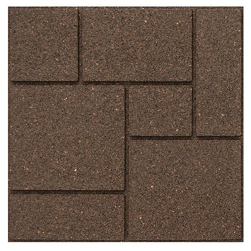 Multy Home 18 inch x 18 inch Cobblestone Envirotile Stepping Stone Earth