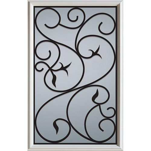23 inch x 37 inch Borduas 1/2 Lite Decorative Glass Insert