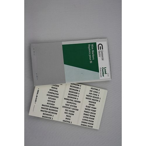 CE Wire Markers Residential Load Center