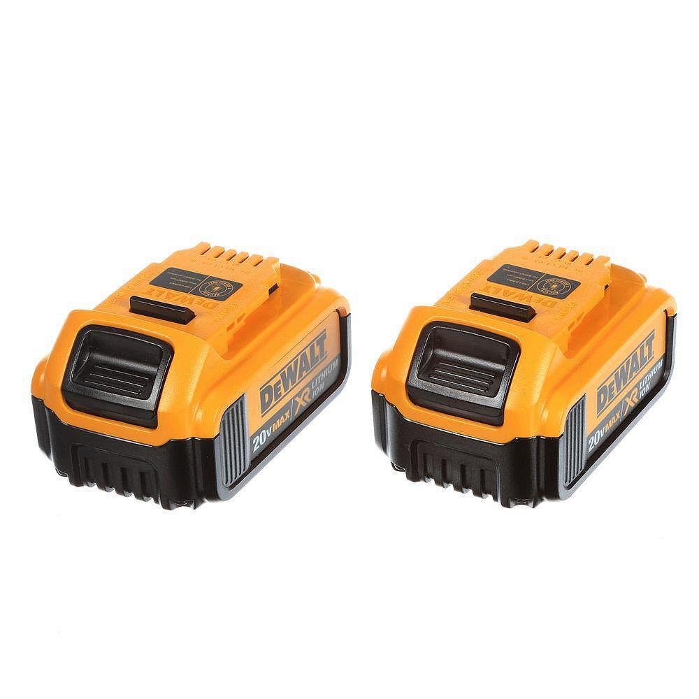 DEWALT 20V MAX XR Lithium-Ion Premium Battery Pack 4.0Ah (2-Pack)
