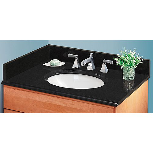 20 Inch Midnight Black Granite Side Splash