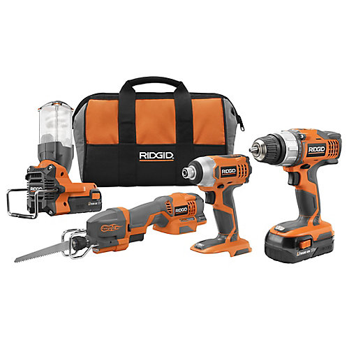 18V Lithium Compact 4 Piece Combo Kit