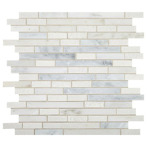 Dal Tile Mixx Marble 12-inch x 12-inch x 9.5mm Stone Mosaic Tile