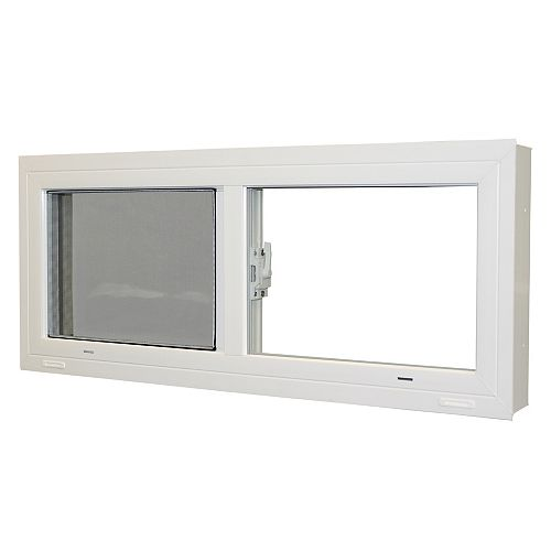 28 1/4-inch x 13 1/2-inch Sliding Basement Window