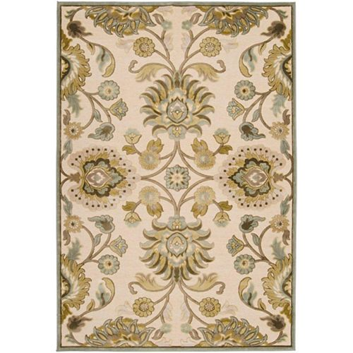 Artistic Weavers Lauren Off-White 8 ft. 8-inch x 12 ft. Indoor Transitional Rectangular Area Rug