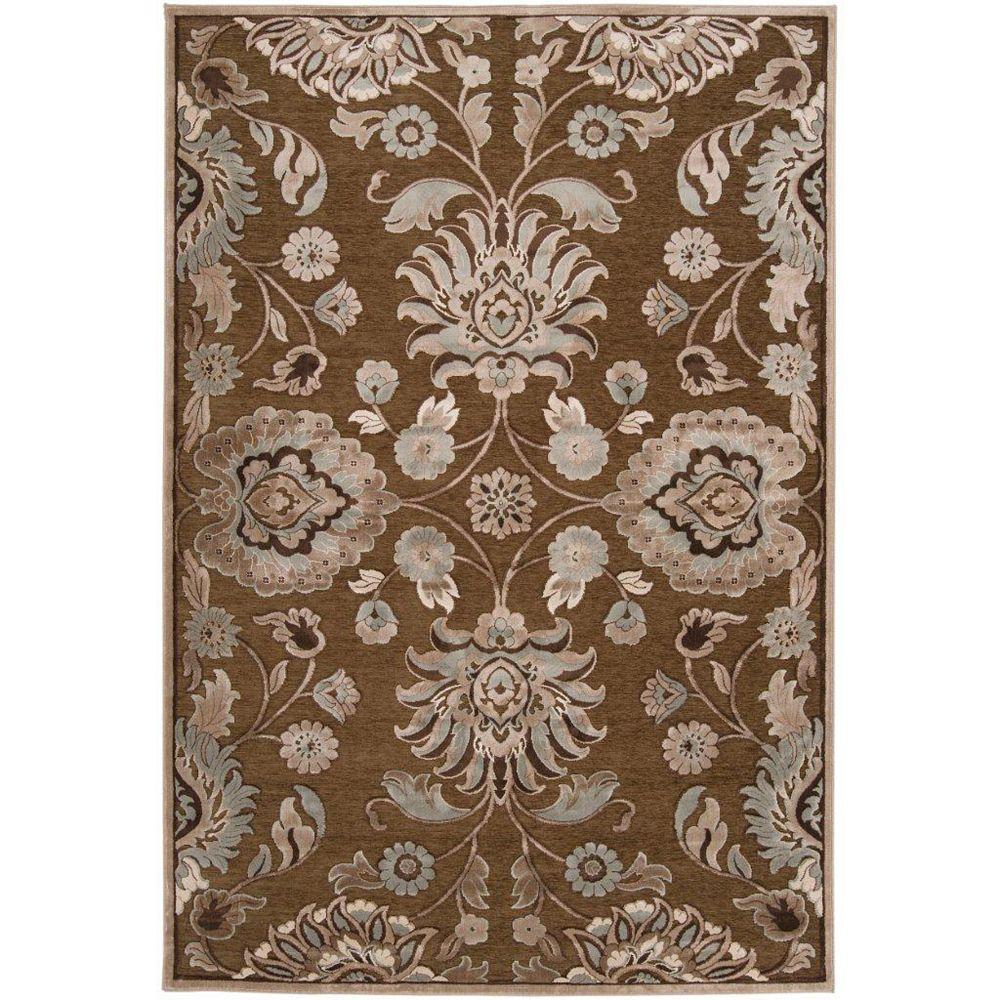 Artistic Weavers Lauren Brown 7 ft. 6-inch x 10 ft. 6-inch Indoor Transitional Rectangular Area Rug