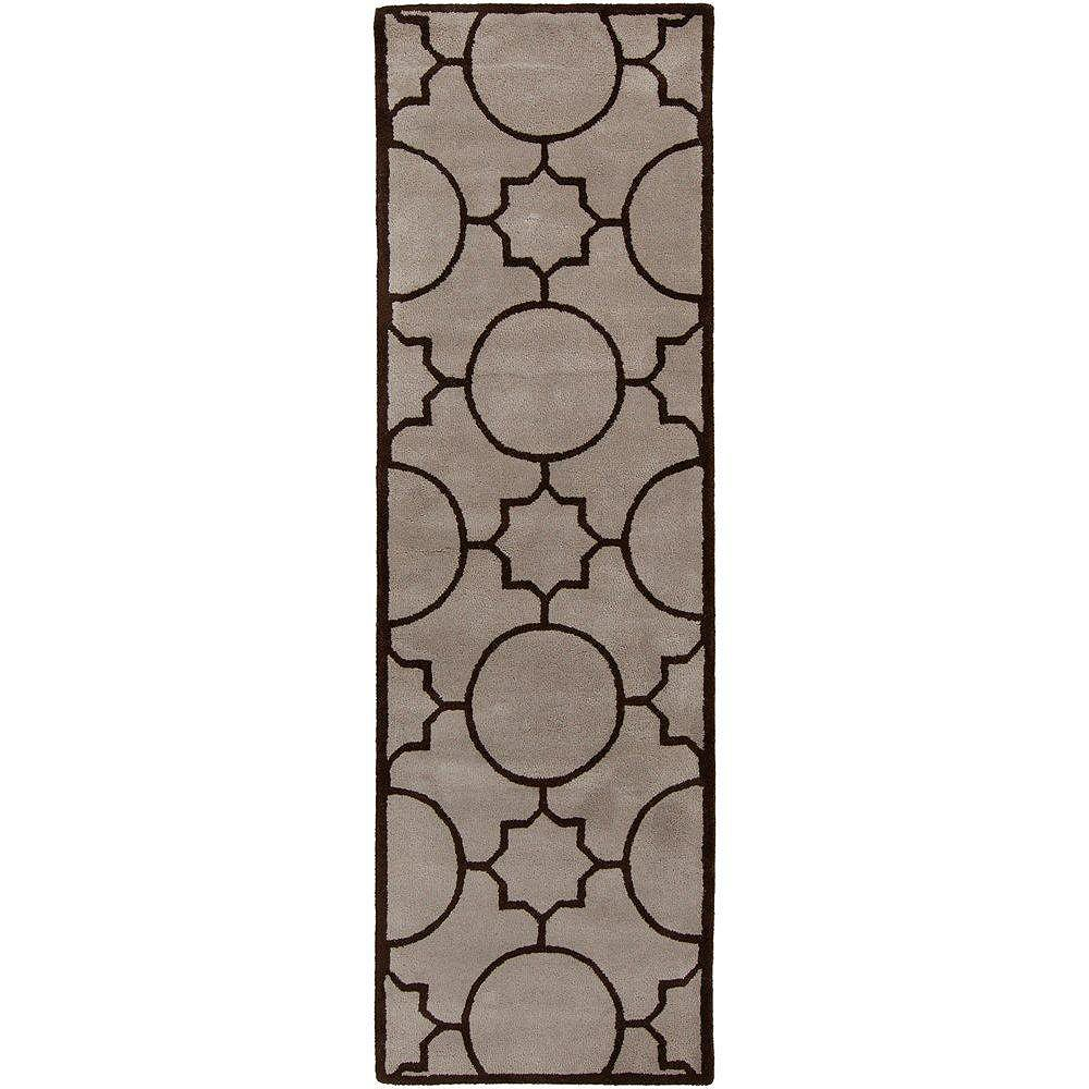 Artistic Weavers Oscar Grey 2 ft. 6-inch x 8 ft. Indoor Transitional Runner