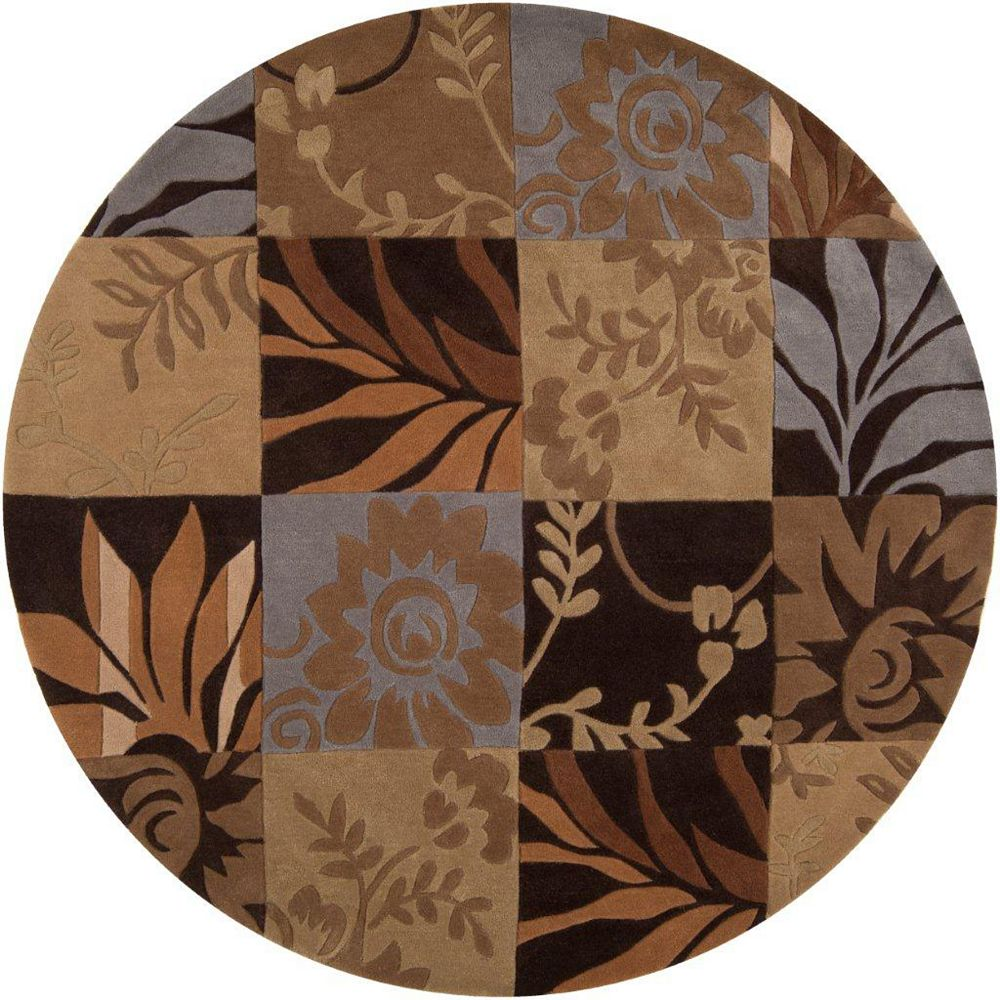 Artistic Weavers Equinox Brown 8 ft. x 8 ft. Indoor Contemporary Round Area Rug